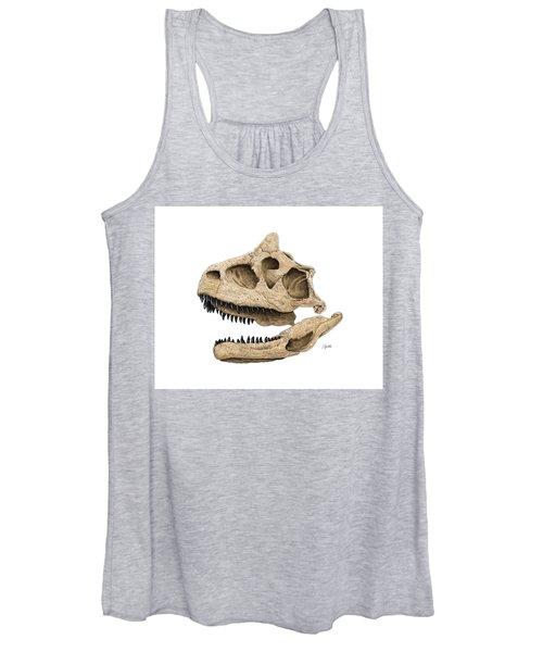 Carnotaurus Skull Women's Tank Top