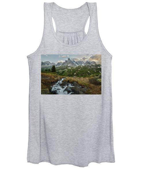 Cascade In The Alps Women's Tank Top