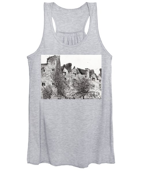 Castle Ruins At Hay On Wye Women's Tank Top