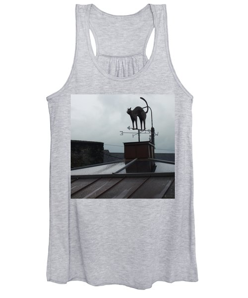 Cat On A Cool Tin Roof Women's Tank Top