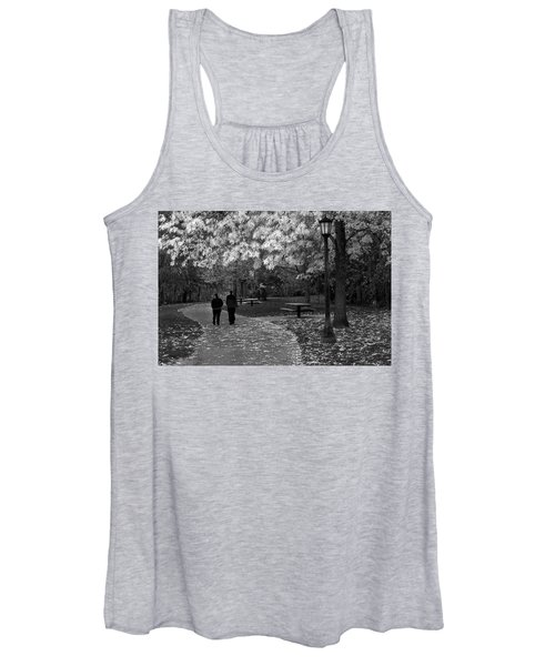 Cathedral Park In Fall Bw Women's Tank Top