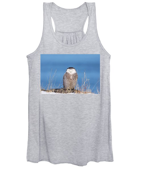 Centered Snowy Owl Women's Tank Top