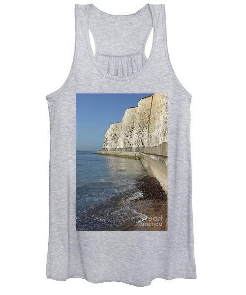 Chalk Cliffs At Peacehaven East Sussex England Uk Women's Tank Top