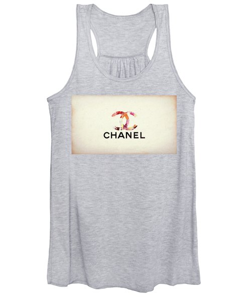 Chanel Floral Texture  Women's Tank Top