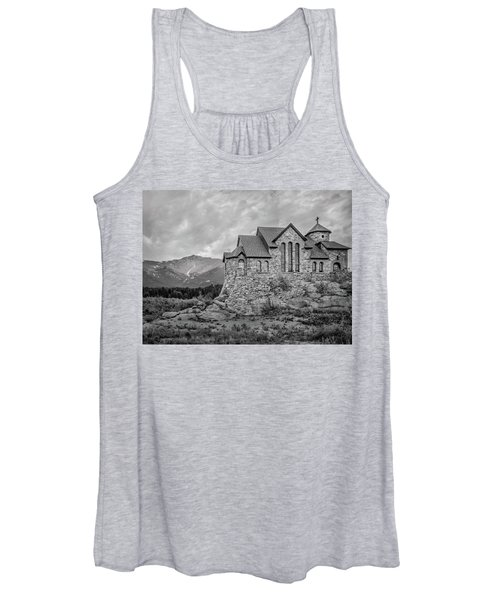 Chapel On The Rock - Black And White Women's Tank Top