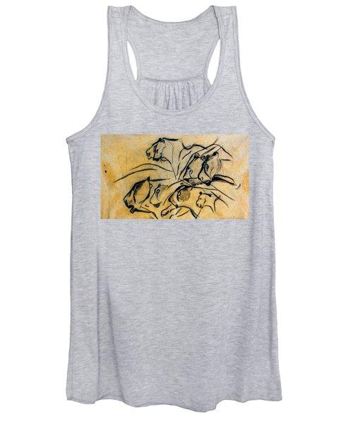 chauvet cave lions Clear Women's Tank Top