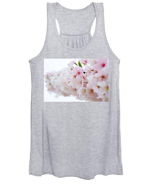 Cherry Blossom Focus Women's Tank Top