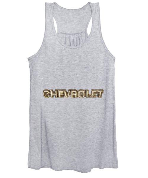 Chevrolet Chrome Emblem Women's Tank Top