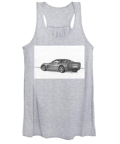 Chevrolet Corvette Sport Car. Women's Tank Top