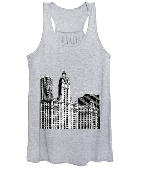Chicago Wrigley Building - Salmon Women's Tank Top