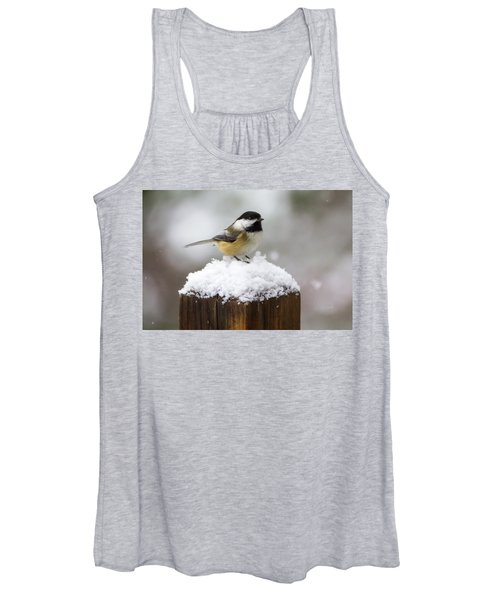 Chickadee In The Snow Women's Tank Top