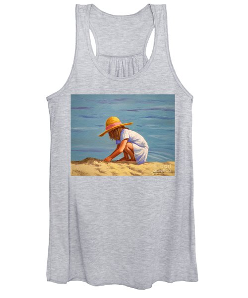 Child Playing In The Sand Women's Tank Top