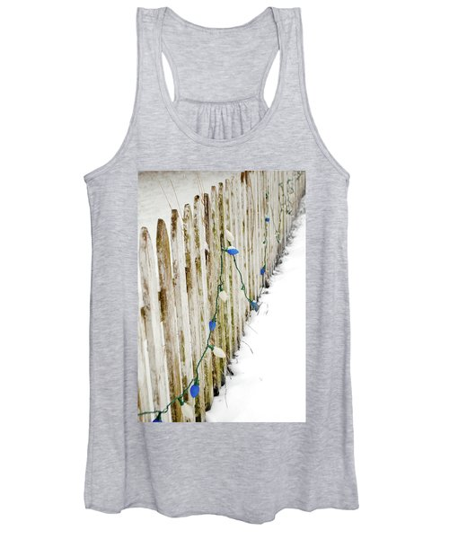 Christmas Fence Women's Tank Top