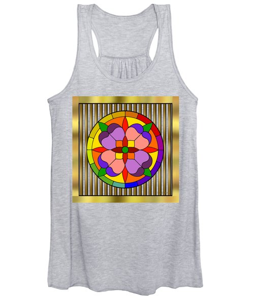 Circle On Bars Women's Tank Top