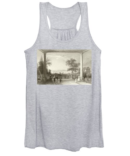 City And Lake Of Constance From The Chateau Wolfsberg Women's Tank Top
