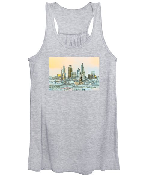 City Of London Outline Poster  Women's Tank Top