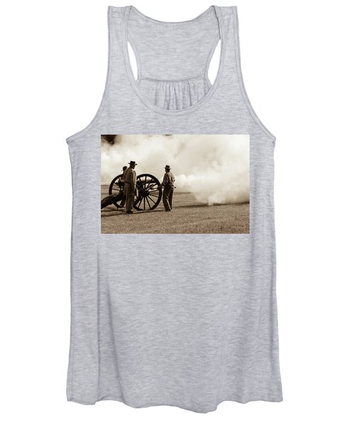 Civil War Era Cannon Firing  Women's Tank Top
