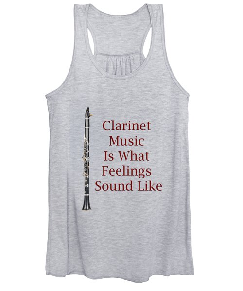 Clarinet Is What Feelings Sound Like 5574.02 Women's Tank Top