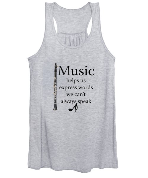Clarinet Music Expresses Words Women's Tank Top
