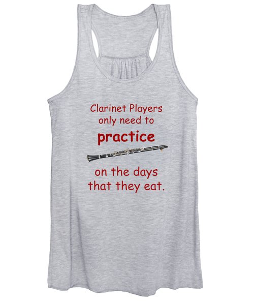 Clarinets Practice When They Eat Women's Tank Top