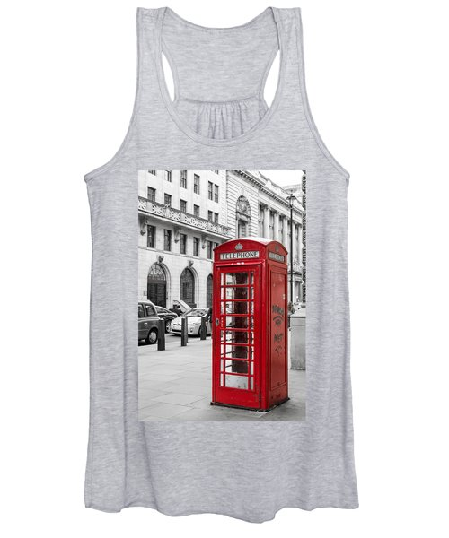 Red Telephone Box In London England Women's Tank Top