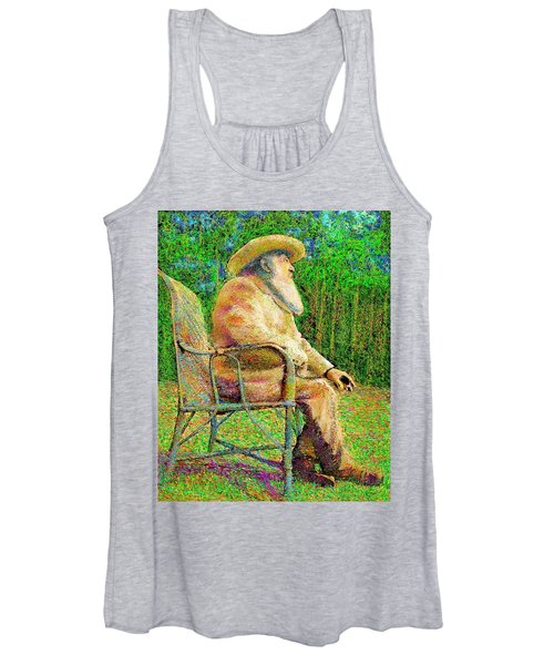 Claude Monet In His Garden Women's Tank Top