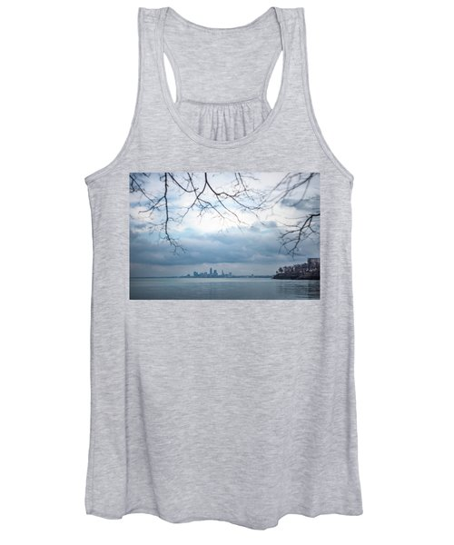 Cleveland Skyline With A Vintage Lens Women's Tank Top