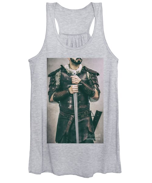 Close Up Of Viking Costume Women's Tank Top