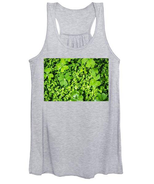 Lush Green Soothing Organic Sense Women's Tank Top