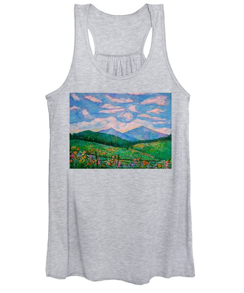 Cloud Swirl Over The Peaks Of Otter Women's Tank Top