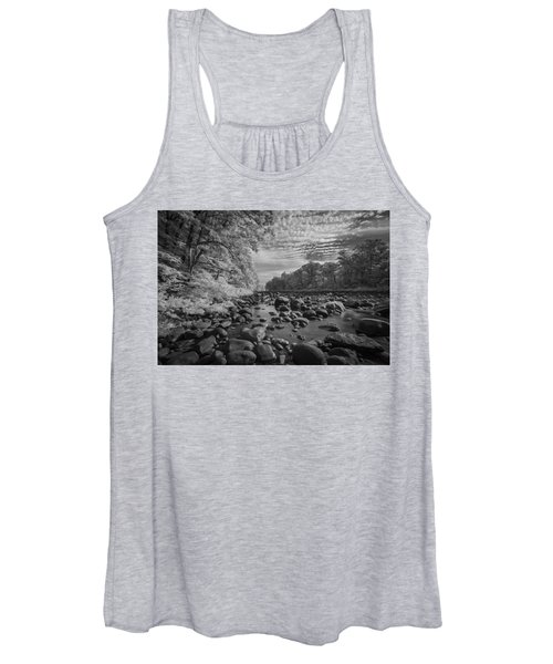Clouds Over The River Rocks Women's Tank Top