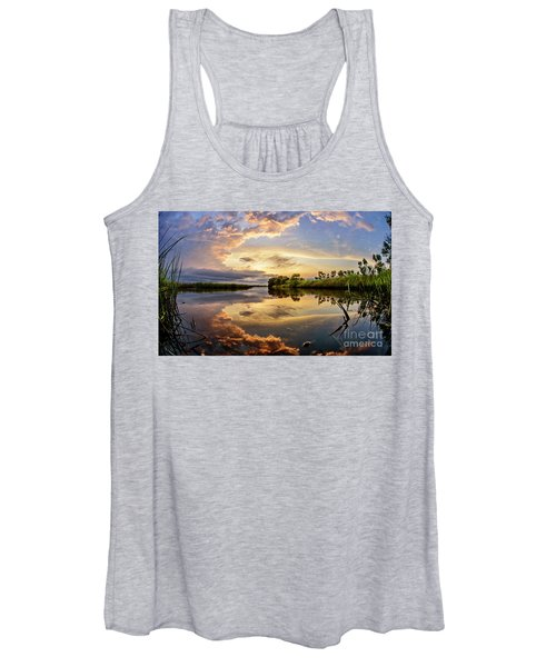 Clouds Reflections Women's Tank Top