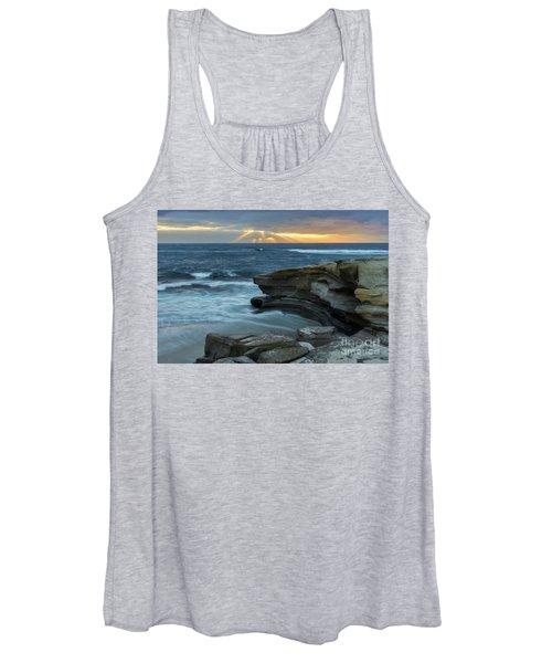 Cloudy Sunset At La Jolla Shores Beach Women's Tank Top