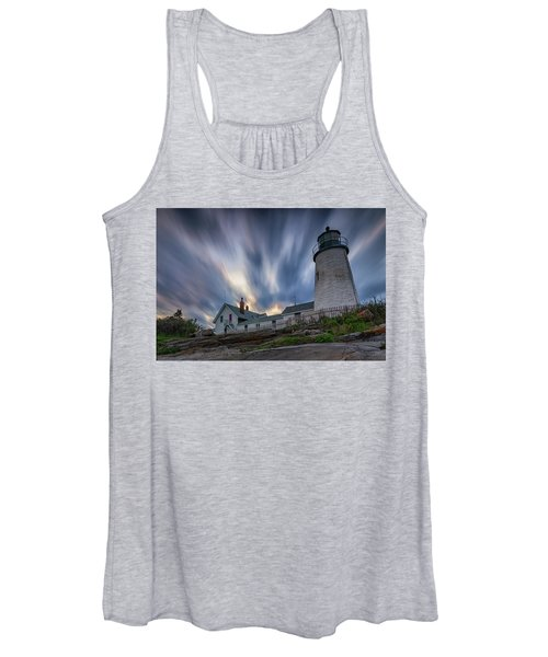 Cloudy Sunset At Pemaquid Point Women's Tank Top