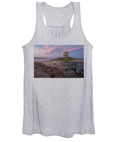 Coastal Tower At Sunset Women's Tank Top