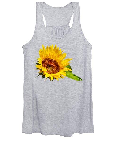 Color Me Happy Sunflower Women's Tank Top