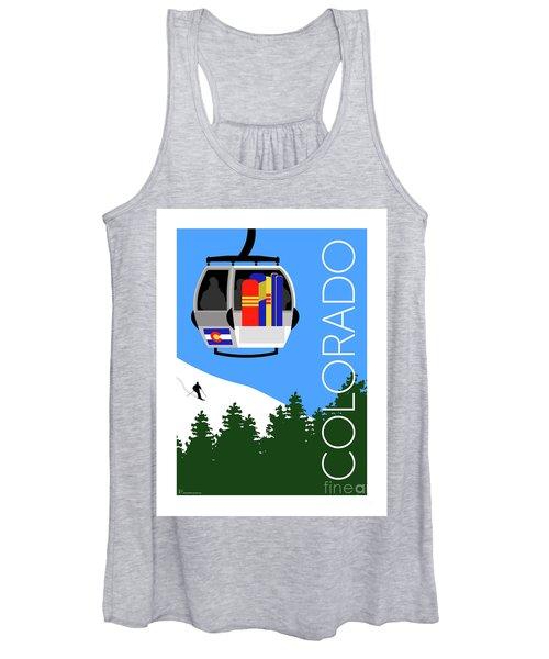 Colorado Ski Country Blue Women's Tank Top