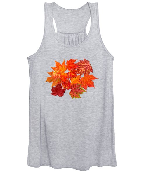Colorful Maple Leaves Women's Tank Top