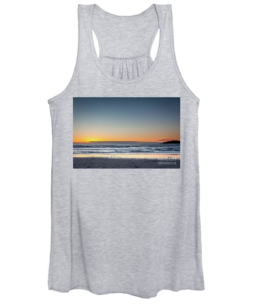 Colorful Sunset Over A Desserted Beach Women's Tank Top