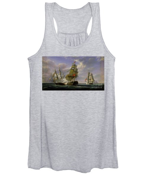 Combat Between The French Frigate La Canonniere And The English Vessel The Tremendous Women's Tank Top