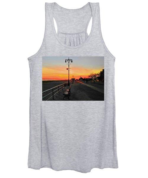 Coney Island Boardwalk Sunset Women's Tank Top