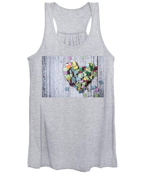 Confetti Heart Women's Tank Top