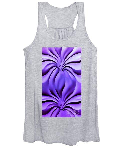 Contemplation In Purple Women's Tank Top