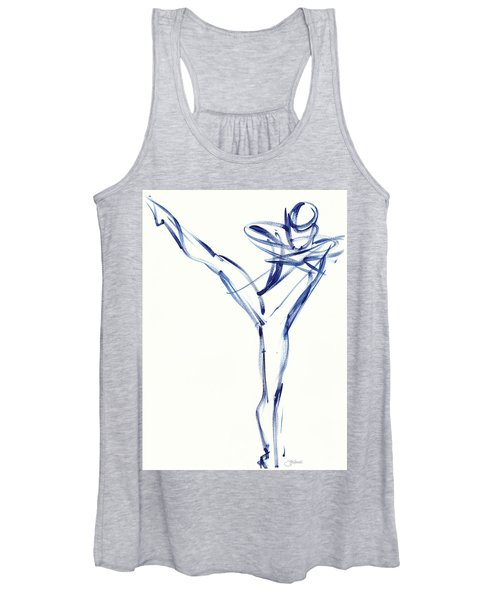 Contemporary Ballet Dancer, Blue Women's Tank Top
