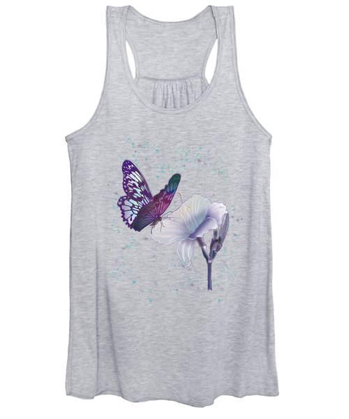 Contemporary Painting Of A Dancing Butterfly  Women's Tank Top
