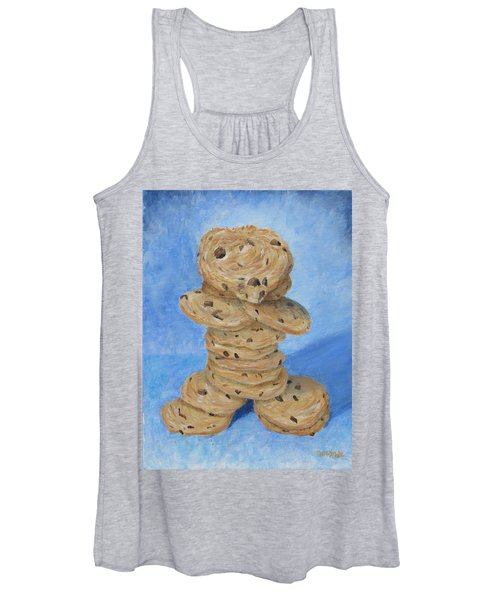 Women's Tank Top featuring the painting Cookie Monster by Nancy Nale