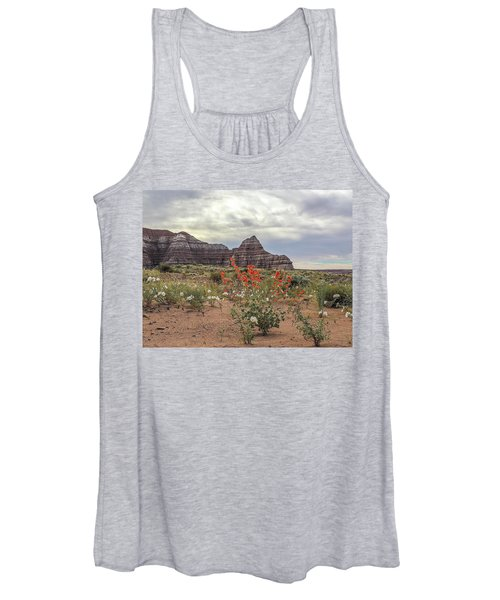 Copper Mallow And Pale Evening Primrose Women's Tank Top