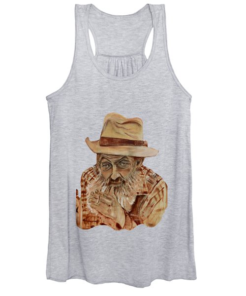 Coppershine Popcorn Bust - T-shirt Transparency Women's Tank Top