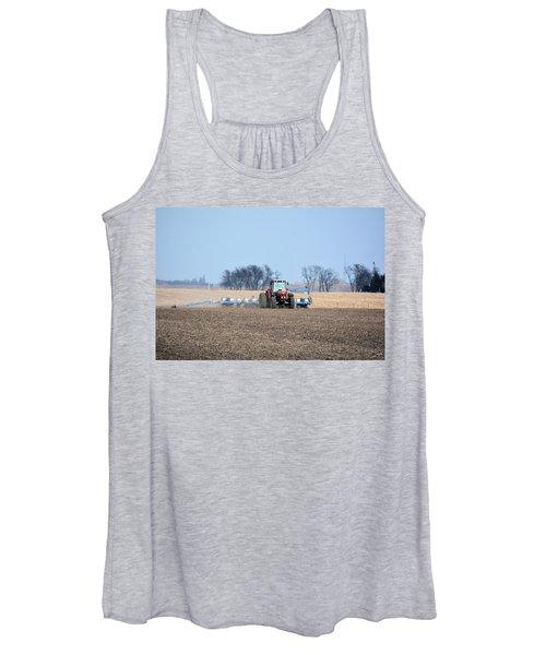 Corn Planting Women's Tank Top