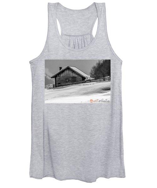 Cottage In Winter Women's Tank Top